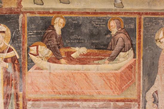 Basilica di San Zeno Maggiore: Who says graffiti is a modern problem?