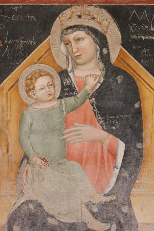 Basilica di San Zeno Maggiore: Fresco of Virgin & child in San Zeno, Verona