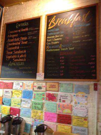 Amanouz Cafe: great menu....