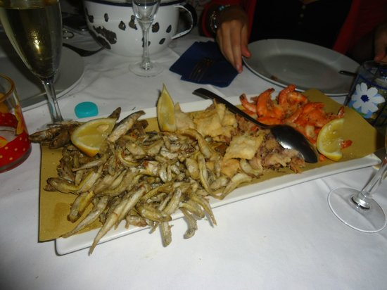 Osteria del Tempo Perso: fishes for dinner