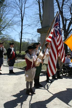Re-enactment at North Bridge