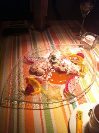 Restaurant: dessert castagne con crema di cachi