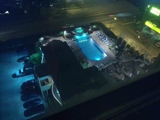 Embassy Suites by Hilton Tampa - Airport/Westshore: pool at night