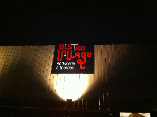 Chalon-sur-Saone, Prancis: Le Logo du restaurant à l'entrée