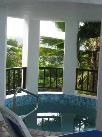Windjammer Landing Villa Beach Resort: Room view - cold dipping pool