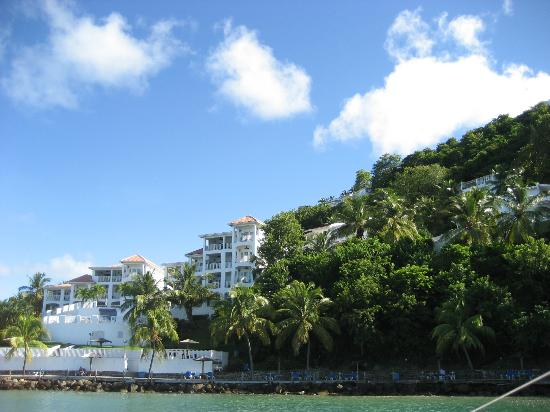 Windjammer Landing Villa Beach Resort: From boat