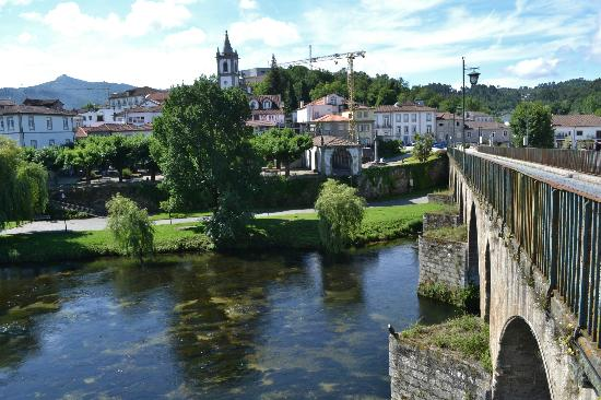 View of the riverside from the bridge at Ponte da Barca