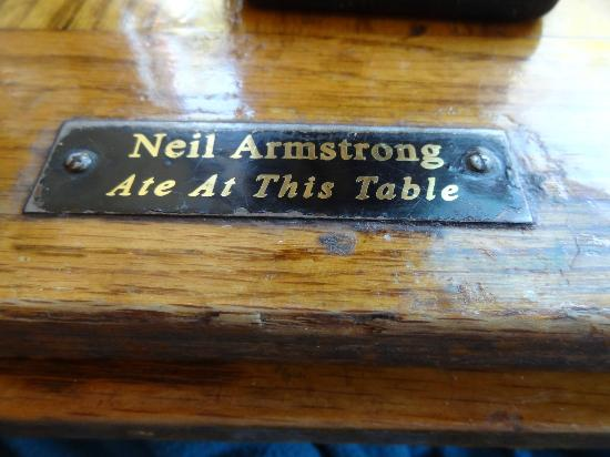 Hyman's Seafood: We got to sit at the Neil Armstrong table!