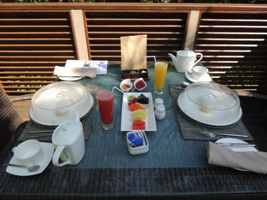 The Samaya Bali Ubud: Breakfast on our terrace