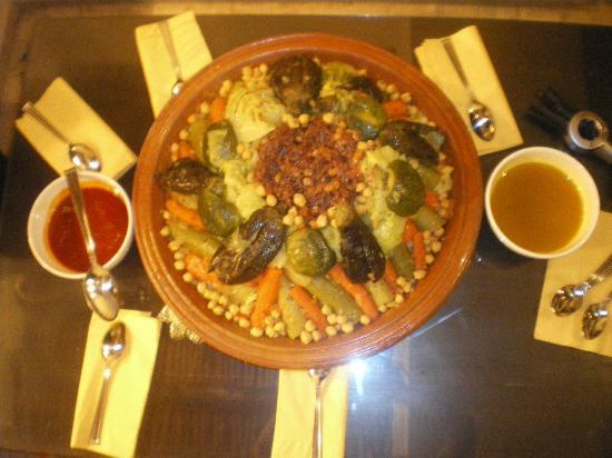 Riad Vanilla sma: Couscous maison