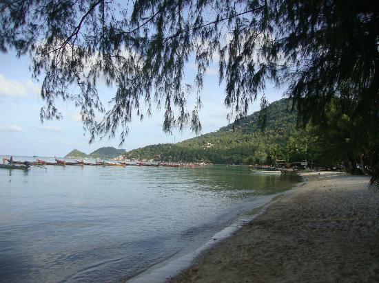 Sairee Cottage Resort: Sairee beach looking west