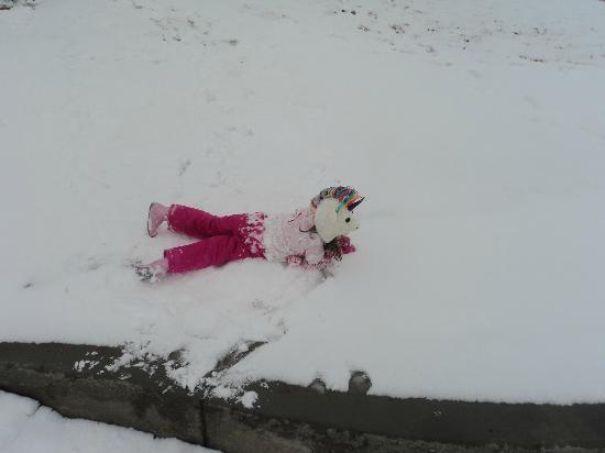 Rainbow Park: Granddaughter attack by snow balls