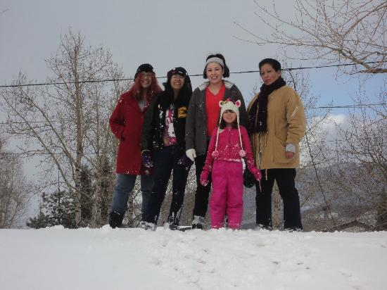Rainbow Park: Mama, daughters and granddaughter