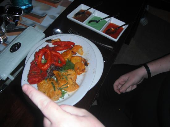 AAJ India Cafe & Restaurant: Seafood (One of many)