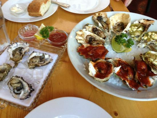 Pearl: Great selection of fresh prepared oysters