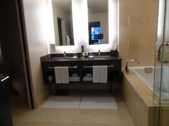 Hyatt At Olive 8: Luxury King Suite - Master Bathroom (in mirror tv)