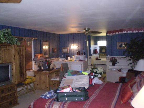 Rode Inn : The mess is my husband's. Very roomy