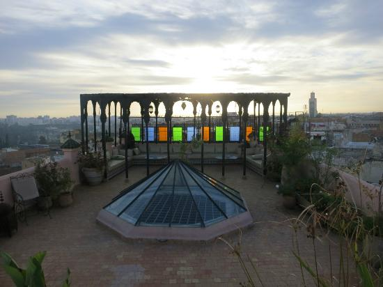 Riad d'Or: Rooftop gazebo