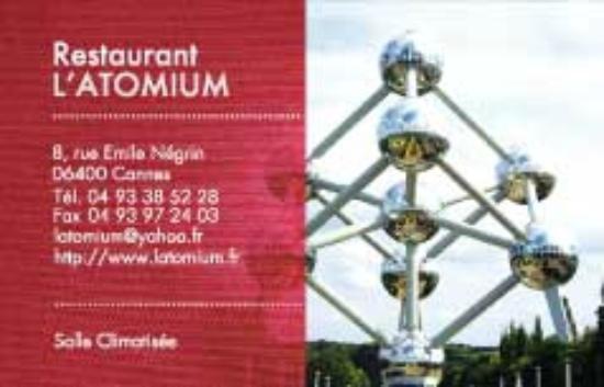 Latomium: COORDONNEES ATOMIUM