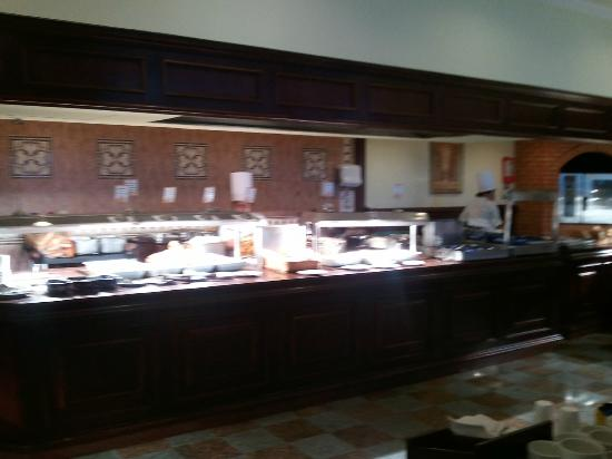 Hotel Riu Palace Las Americas: bad lighting, but one part of the buffet