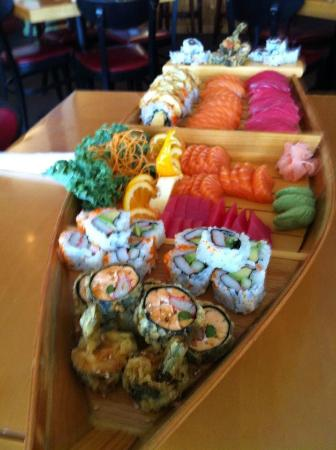 Banzai Sushi & Thai Restaurant : One of their sushi boats that we get. They also did holiday platters for me last Christmas.