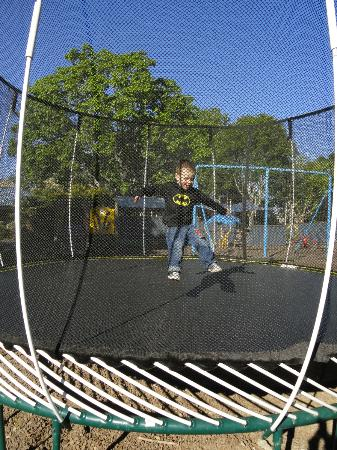 Hastings Top 10 Holiday Park : Fun on the trampoline