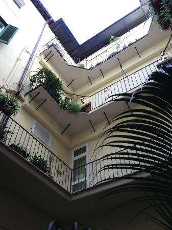 Hotel Navona- courtyard view