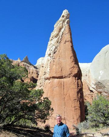 Kodachrome Basin State Park: We called this one Lizard Rock - the white on the left is the lizard