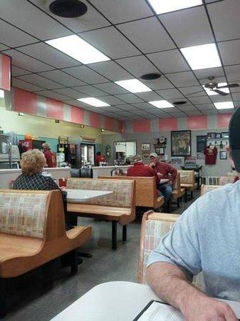 Interior of Hamburger King.