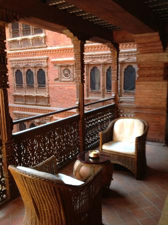 Kantipur Temple House: A place to chat in one of the open hallways