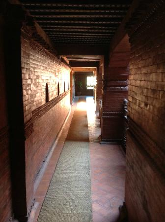 Beautiful hallways in the hotel Kantipur Temple house