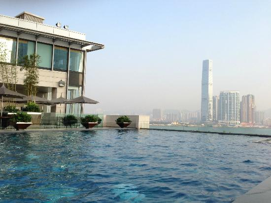 View From The Outdoor Pool Bistro Towards Central Picture Of Four Seasons Hotel Hong Kong