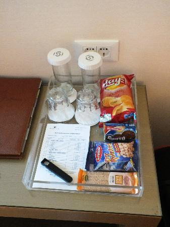 Galaxy Hotel Iraklio: Some (not free) snacks in our room