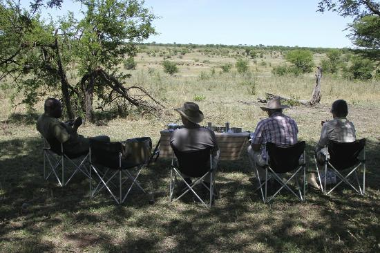 Serengeti Safari Camp, Nomad Tanzania: lunch in nature