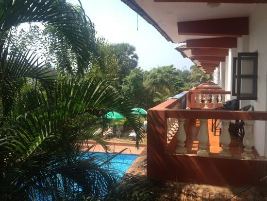 Chalston Beach Resort: on balcony