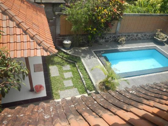 Bali Breeze Bungalows: view from the upper floor