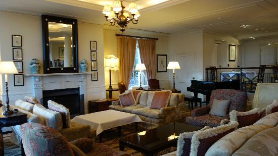 The Lounge at Lilianfels : One of the two fires places and comfy sofas