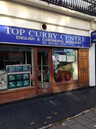 Top Curry Centre: menus in window, first paparazzi shot of Lady Di lower left