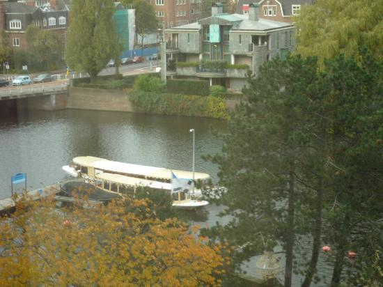 Hilton Amsterdam: View from our hotel room