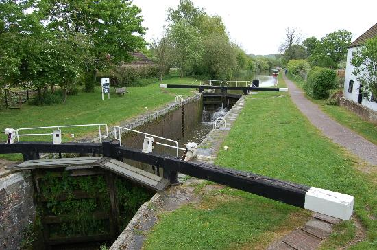 Marlborough, UK: The Kennet & Avon canal also passes through the forest