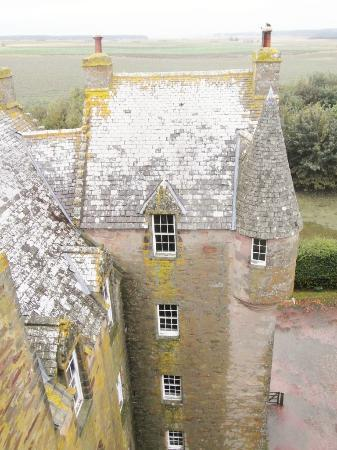 Castle Stuart: View of our room from opposite tower