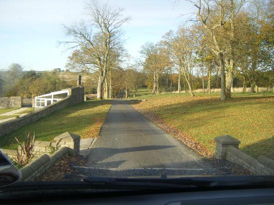 Balmule House: View of the drive as we were leaving.