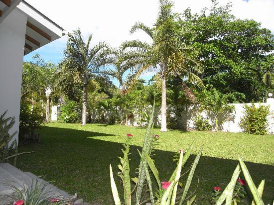 La Modestie Guesthouse: Blick von Terrasse