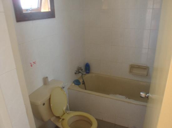 Nicholas Hotel Apartments: Il bagno fatiscente...la doccia perdeva acqua e il gabinetto non scaricava!