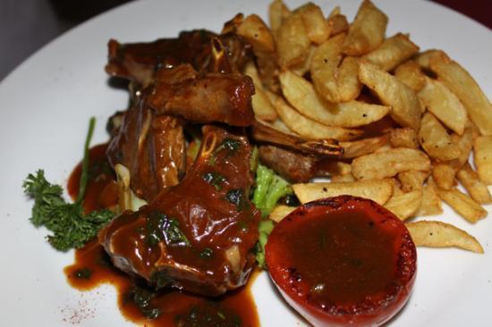Hotel LaMada: Dinner - Lamb cutlets