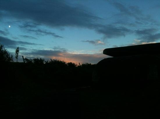 Longues Battery: the control bunker at twilight