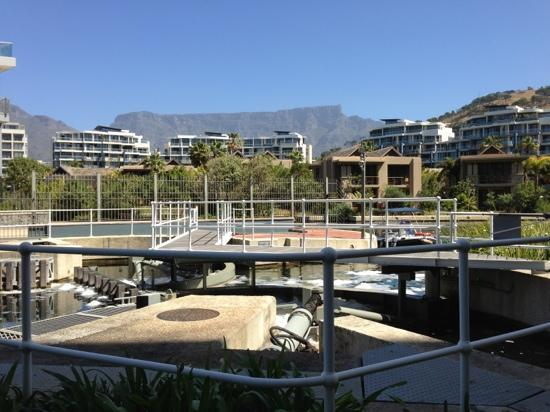 Lawhill Luxury Apartments: Table Mountain behind the Lawhill Apartments