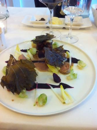 Klein Constantia: Fazant/rode biet/witloof/foie