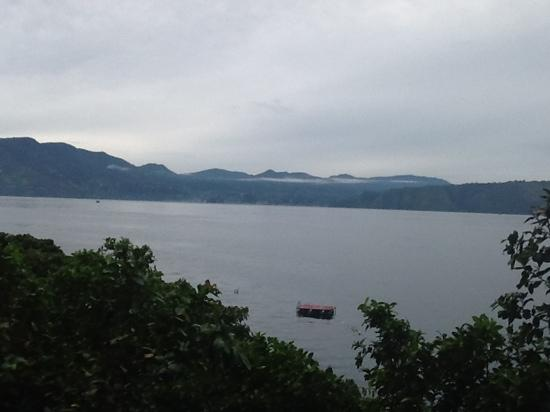 Samosir, Indonesia: View from Hotel Carolina