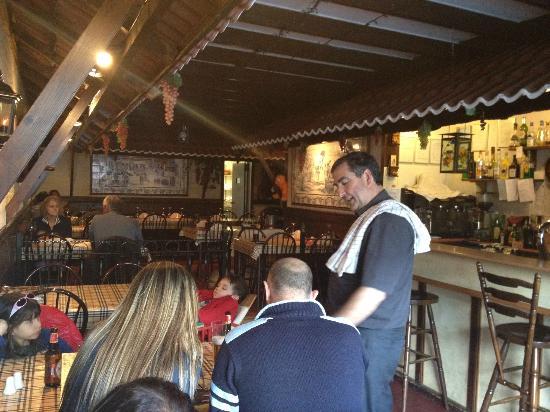 Alto Douro: Luis and view to restaurant
